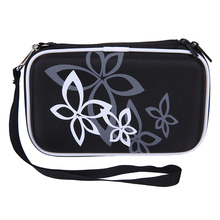 "Flower HDD Carrying Bag Case Hard Pouch for 2.5"" External Hard Drive Disk Electronics Cable Cord Mp3 Mp5 Player Organizer Bag(China)"