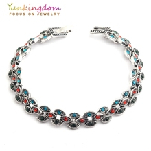 Yunkingdom Hot Sale Bohemian Ethnic Resin Fashion Charms Bracelets Wonderful Jewelry For Women Holiday Gift YUN0589(China)