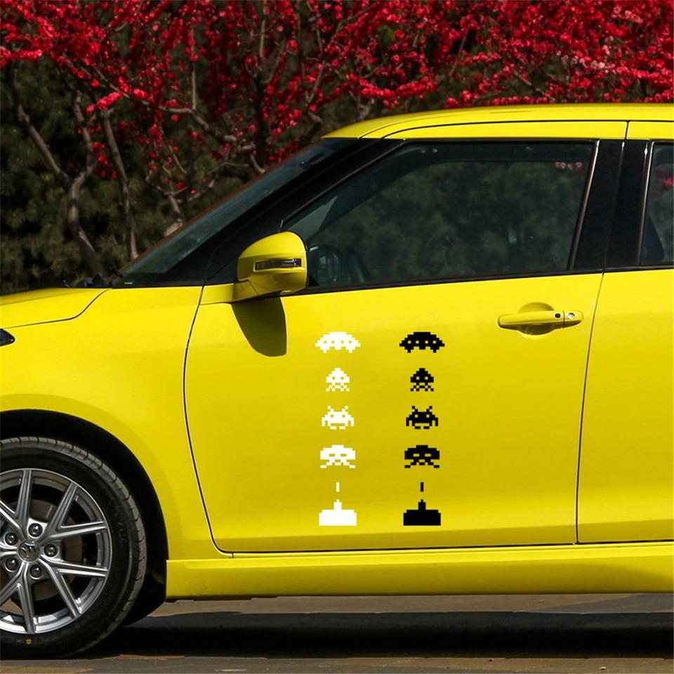 Space Invaders Creative Car-Styling Vinyl Stickers Fashion Car Window Body Door Toilet Laptop Waterproof Stickers 4.3cm18 (2)