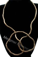 (Min.$10-mix order) Wear you like wear twisted necklace 5mm 90cm length bendable snake chain flexible twist jewelry necklaces