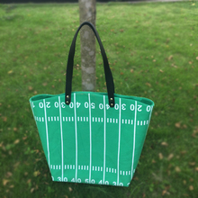 Wholesale Blanks Runway Tote Bag Canvas Material Game Day Tote Casual Large Capacity Handbag DOM103374