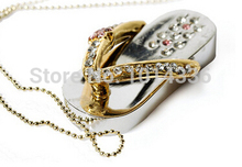 real capacity lovely jewellery cute slipper 4GB 8GB 16GB 32GBFlash 2.0 Memory Drive Stick Pen creative gift S47