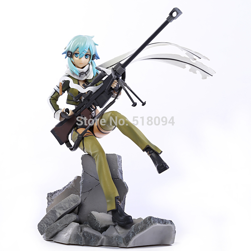Sword Art Online II Asada shino Phantom Bullet 1/7 Scale PVC Figure Collrctible Toy 9 23cm<br><br>Aliexpress