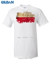 GILDAN New Summer Poland Flag Men T shirts 100% Cotton Short Sleeve Fans Nostalgia Poland Flag Style T-shirts For Men Tops(China)