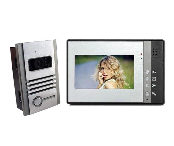 freeship  7 Villa Wired Color Video Door phone with Metal Casing Camera Home Improvement Visual Door Ring door intercom<br><br>Aliexpress