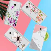 Peach blossom Lotus leaf case For xiaomi Redmi 3 3S 4A 4X 4 4S Note 3 Note 4 Note 4X cover