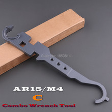 Free shipping  Delta Ring & Butt stock Tube Wrench Tool For Airsoft M4/M16 AEG-C
