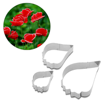 Stainless Steel Flower Cutter 2017 Poppy Petals Cake Mould Fondant Cookie Cutters Cake Decorating Tools Kitchen Accessories