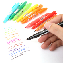 12 Color Dual Tip Qiuck Drying Oil Based Ink Art Marker Pen Fine Liner Pen For Graffiti DIY Drawing Gift Stationery Art Supplies