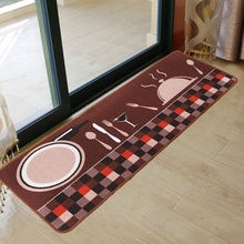 Printing Bsorbent Non-slip Mats Kitchen foyer Foot pad Household Long kitchen Floor Mats Fashion Rugs for Bedroom Kitchen