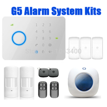 Etiger 210kit universal 315Mhz CHUANGO G5 GSM SMS Home Burglar Security Alarm System Control Panel