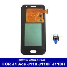 100% Tested Replacement AMOLED LCD For Samsung Galaxy J1 Ace J110 SM-J110F J110H J110FM Screen Display Touch Digitizer Assembly