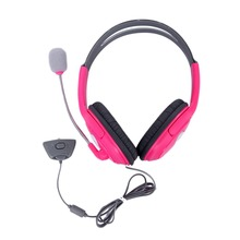 New Pink Headset Headphone With Mic For Xbox 360 Live Wireless Controller hot new