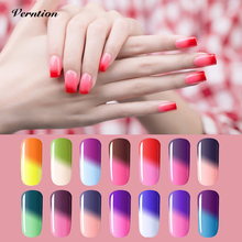 Verntion Temperature Changing Color Gel Nail Polish Varnish Nail Art Soak Off Thermo Mood Color UV LED Chameleon Gel Nail Polish(China)