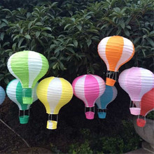 5pcs/lot 30cm=12inch Hanging Wedding Rainbow Lanterns Hot Air Balloon Paper Lantern Birthday Party Decorations