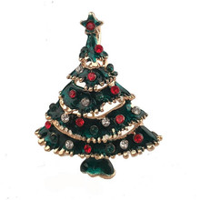 2017 NEW Kids Christmas Tree Brooch Set Ornaments Children Gift Toddler Preschool Craft Broches Xmas Decoration Clothes