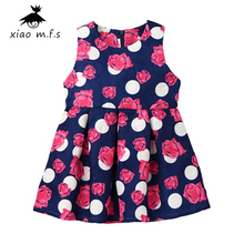 Girls Dresses Winter 2017 New Brand Children Princess Costume Mode Enfant Rose Dot Print Pattern Kids Dresses for Girls Clothes
