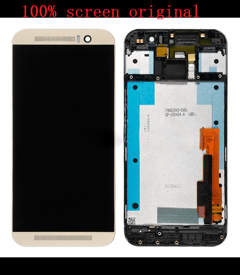 silver or gold or grey  LCD DIsplay  Touch Screen Digitizer Frame Cover Assembly  For HTC ONE M9 original<br>