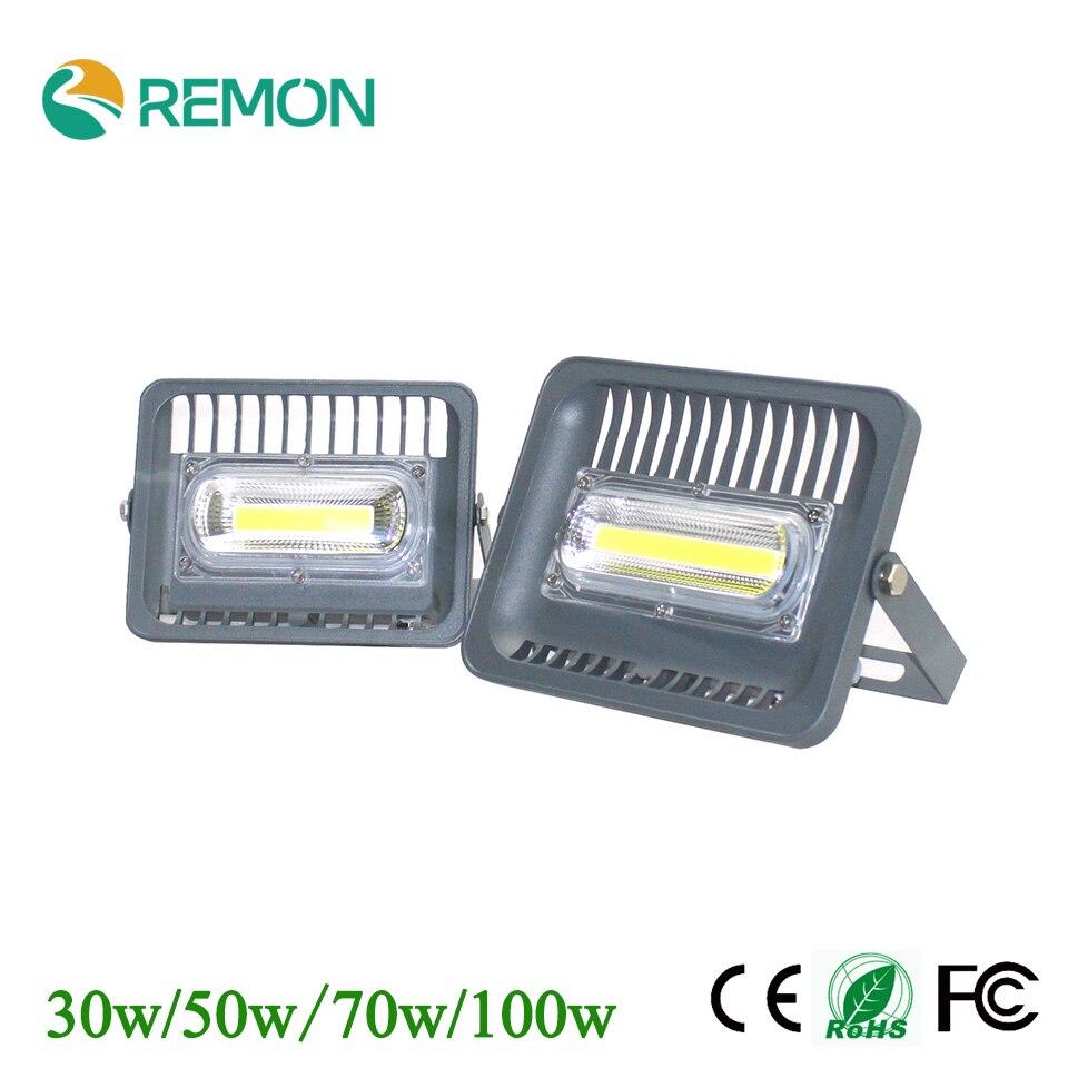 LED Flood Light Waterproof IP66 30w 50w 70w 100w COB Outdoor Lighting AC85-265V Refletor LED Super Bright Floodlight<br><br>Aliexpress