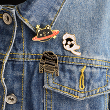 3PCS/SET Animal Kitten Record cat Planet cat Black sweater Brooch Set Pins Button Jacket Shirt Backpack Pin Badge Jewelry Gift(China)