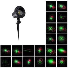 Laser star RG Remote 20 Patterns shower Red Green motion Christmas Laser Projector  Outdoor IP65 Waterproof Garden Decoration