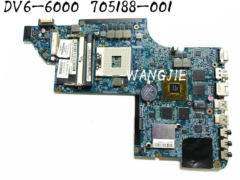For HP Pavilion DV6 DV6-6000 Laptop Motherboard 705188-001 HD7690M graphics card 100% fully tested