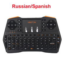 Russian Spanish English Mini Keyabord 2.4G Wireless Keyboard for Mini PC Laptop Android TV Box for Orange Pi for Raspberry Pi(China)