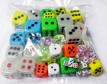 (1) POUND OF DICE BAG GAME ASSORTED DICE NEW PINATA WHOLESALE Super Mega Value Pack novelty birthday party favors toy prize gift
