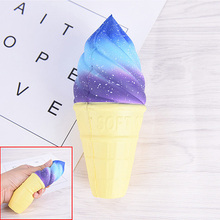 1pcs 15.4*6.2*6.2cm Health Care Cute Jumbo Ice Cream Cone Squishy Slow Rising Antistress Scented Message Tool Relief Pressure(China)