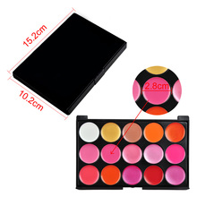 15 Colors Lips Lipstick Palette Professional Makeup Lipstick Cake Cosmetic Makeup Tool Bright Lipstick Palette Long-Lasting(China)