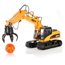 cool toy 571 2.4G 1/12 16 Channels Metal RC Excavator Charging 1:12 RC Car Model Toys Kids Gifts(China)