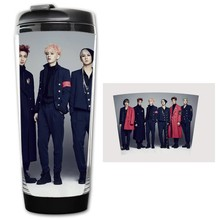 HOT SALE boyfriend 4th mini album Models Double Insulation Plastic Mug Coffee Mugs Space Cup(China)