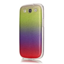 Glitter Bling Shinning Cell Phone Back Cover Case For Samsung Galaxy S3 S III 3 GT-i9300 i9300 Cover TPU Silicone Phone Cases(China)