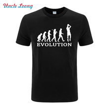 2016 new mens Evolution shoot toward the goal printing Funny t shirt fashion  o-neck Short sleeve Cotton Men casual Top