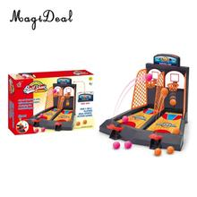 MagiDeal Hot Desktop Basketball Mini Finger Shoot A Basket Child Table Games Double Play Interaction Toy Model Building Fun Gift