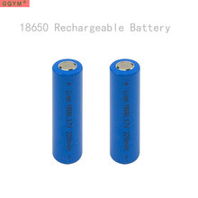GQYM 2 x 18650 Rechargeable Batteries(not AA battery) 3.7v 2200 mAh Lithium Li-ion Battery With Flat Head for power bank(China)