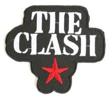 THE CLASH Star Logo Music Band Embroidered NEW IRON ON and SEW ON Cool Heavy metal Rock Punk Badge Custom design patch available(China)