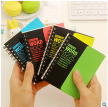 Creative Fluorescent Color Coil Book Vocabulary Notebook Word Notepad Hand Memo Book