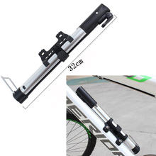 Bike Pump Aluminum Alloy Mini Portable Bicycle Tire Pump Ultralight Inflator Air Pump Silver Color For Bike Drop Shipping