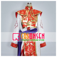 COSPLAYONSEN Dynasty Warriors 4 Zhou Yu Shuu Yu Cosplay Costume Custom Made Any Size