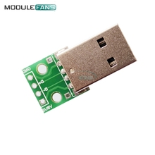 10pcs USB to DIP Adapter Converter 4 pin For 2.54mm PCB Board Power Supply DIY(China)