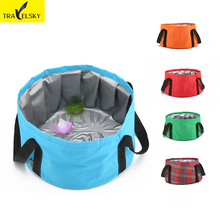 Portable folding basin Wash feet washtub Travel bag can be mounted hot water outdoors bucket free shipping(China)