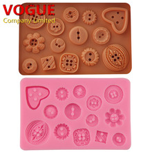 Button Fondant Cake Chocolate Resin Clay Candy Silicone Mold,L11.2cm*W7.2cm*H0.8cm clay resin mould wholesale cake tools N3045