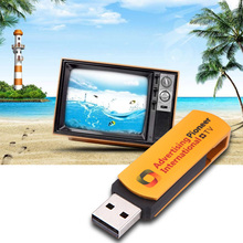 1GB TV Stick Golden USB Worldwide Internet TV Radio Player Multimedia Synchronously 1GHz 1280 x 1024 Dongle Multifunctional(China)