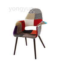 Living Furniture for Casual Plastic Dining sofa Chair Leisure Fashion Modern Bedroom Simple Modern patchwork fabric