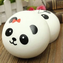 10 cm Jumbo Panda Squishy Bun Charms Kawaii Soft Buns Bread Straps Cell Phone Bag Strap Pendant Squishes PU FOAM cute Gift(China)