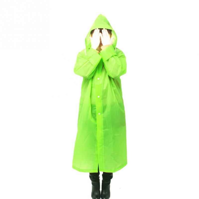 Hot Fashion Outdoor Women Man Raincoat With Hood EVA Environment Safety Rainwear