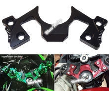 CNC Aluminum Guard Pad Triple Tree Top Upper Front End Clamp Yoke For Kawasaki Ninja 250 300 EX250 EX300 2013 2014 2015 2016