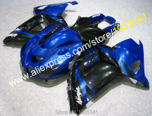 Hot Sales,For Kawasaki Ninja fairings kit ZX14R 2006-2011 ZZR 1400 06 07 08 09 10 11 blue black body ZX-14R (Injection molding)