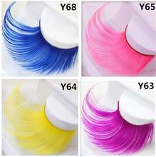 Fake eyelashes Four lengthened color hair false eyelashes exaggerated art stage party make-up party party eyelashes
